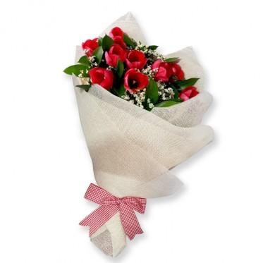 Bouquet de 10 tulipanes