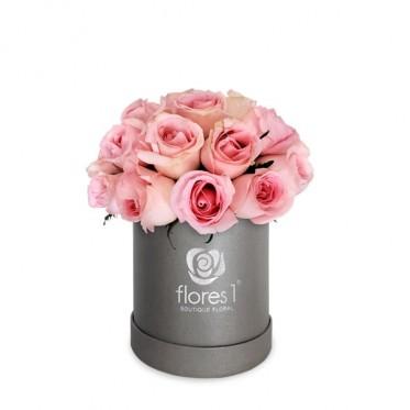 Rosas Rosa en Caja