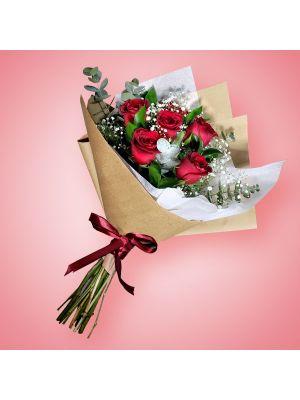Bouquet de 6 rosas