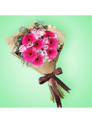 Bouquet de Rosas y Gerberas