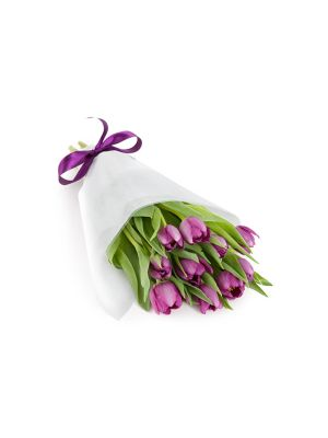 Bouquet de Tulipanes Morados