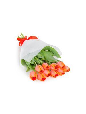 Bouquet de Tulipanes Naranja