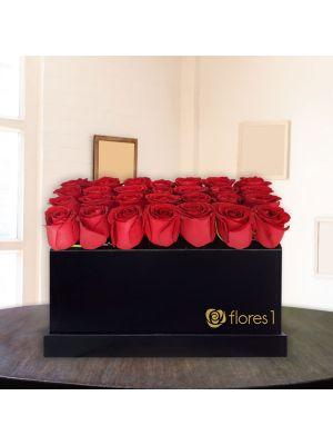 Rosas en Caja Rectangular